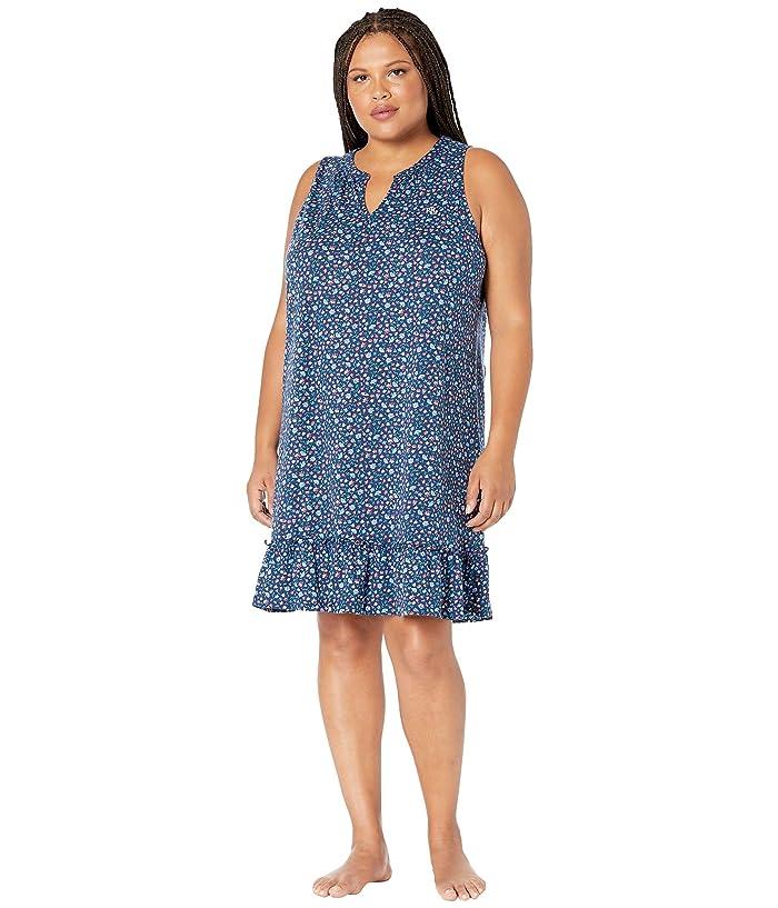 LAUREN Ralph Lauren Plus Size Sleeveless Gown with Flounce ...