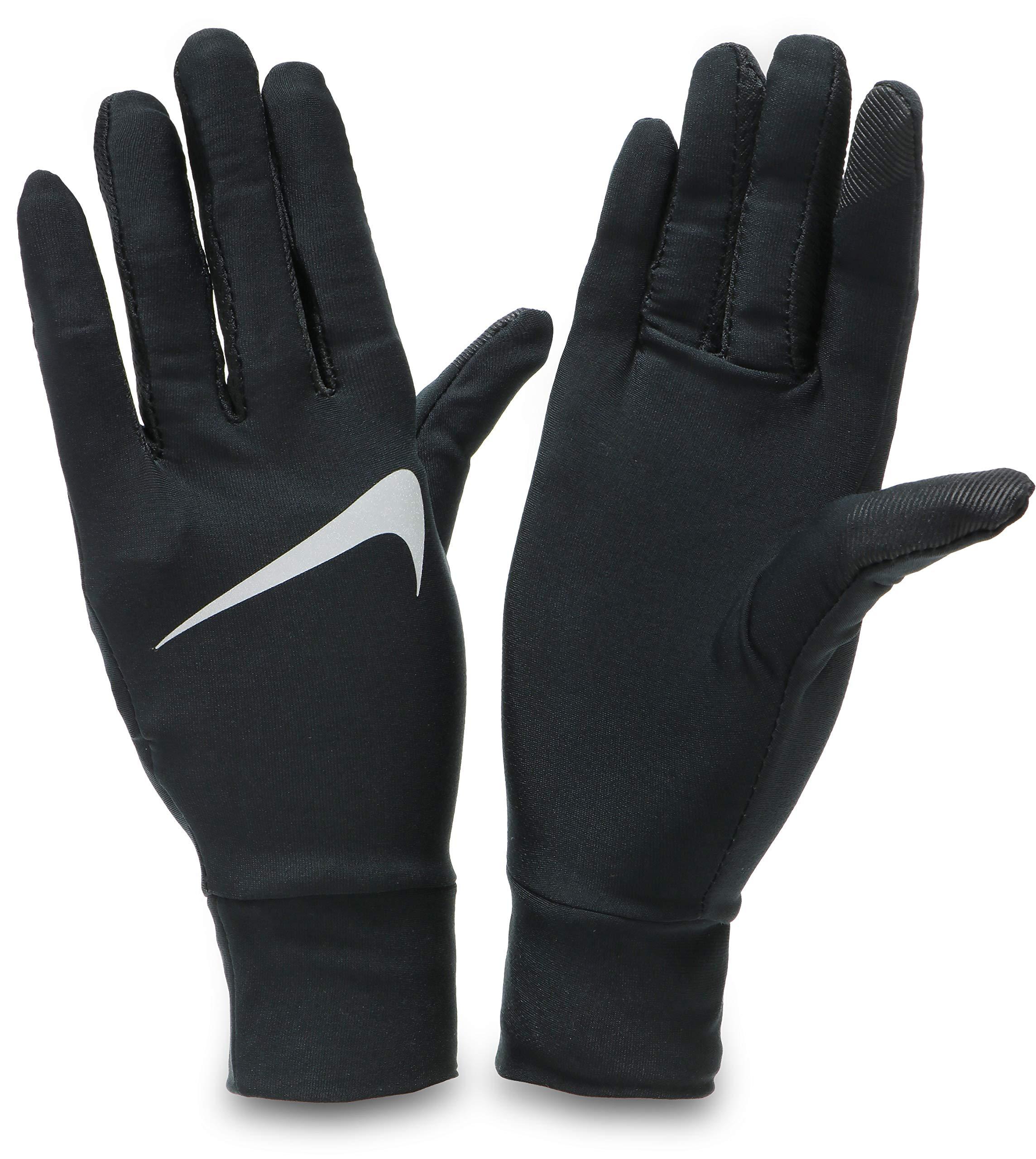 Nike Damen Womens Lightweight Tech Running Gloves 082 Handschuhe, Black/Silver,