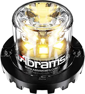 Abrams SAE Class-1 Blaster 360 (Amber/Amber) 18W - 6 LED Tow Truck Construction Vehicle LED Hideaway Surface Mount Strobe Warning Light