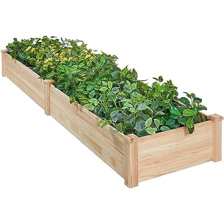 RAISED 3x6 Garden BED KIT Set Cedar Deep Raised Planter Vegetable Garden Bed Herb Garden Outdoor Planter Large Planter Flower Box Kid Garden