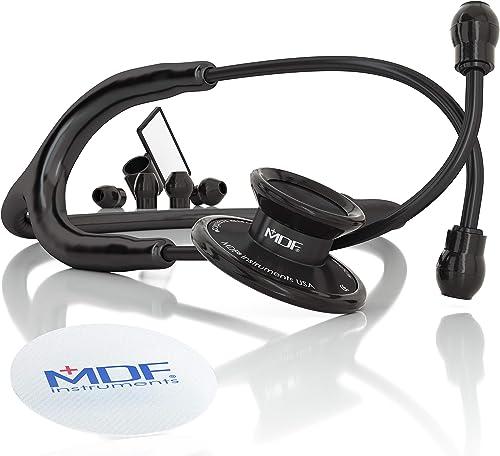 MDF Acoustica Deluxe - Stéthoscope Léger - Pavillon Double - Noir BlackOut (MDF747XP-BO)