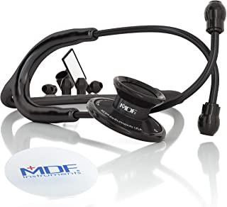 MDF Acoustica Deluxe Lightweight Dual Head Stethoscope - All Black (MDF747XP-BO)