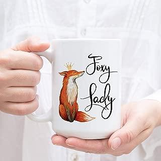 Foxy Lady mug. Coffee Mug for Her. Wife Mug with fox and crown-15OZ Coffee Mug