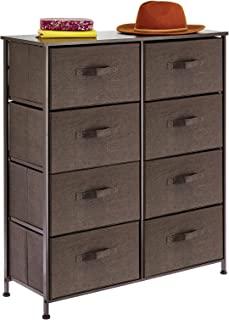 mDesign commode à 8 tiroirs – meuble à tiroirs en panneau de bois MDF pour la chambre à coucher, le salon ou le couloir – ...
