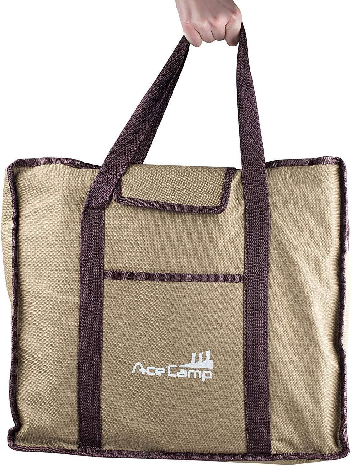 AceCamp Barbecue de camping, charbon de bois, barbecue portable pliable en acier inoxydable, autres tailles Small 21,5 X 19 X 16,5 Cm.