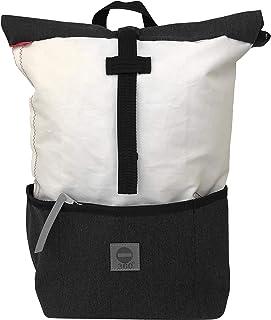 360° Grad Rucksack Lotse, Sonder-Edition Graphit, Damen-Tasche unisex aus Segeltuch weiß anthrazit, wasserdicht, maritim, wasserdicht