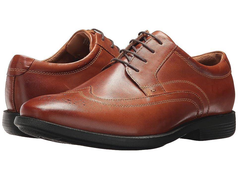 Nunn Bush Decker Wingtip Oxford with KORE Walking Comfort Technology (Cognac) Men