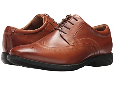 Nunn Bush Decker Wingtip Oxford with KORE Walking Comfort Technology (Cognac) Men