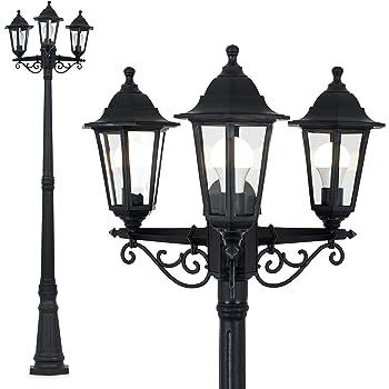 Philips Creek Outdoor//Outside Garden Lantern Lamp Post Light Black