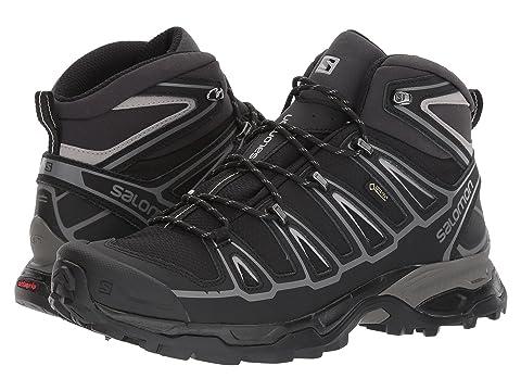 Discount Mens Boots - Salomon X Ultra Mid 2 Gtx Black/Black/Aluminium