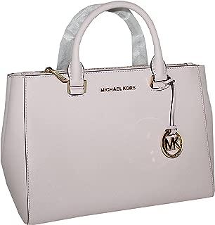Michael Kors Kellen Medium Saffiano Leather Satchel (Blossom Pink)