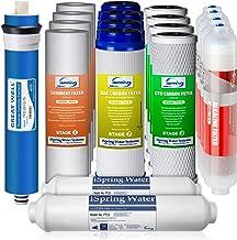 iSpring F19K75 - Juego de filtros de repuesto para sistemas de filtración de agua de ósmosis inversa de 6 etapas