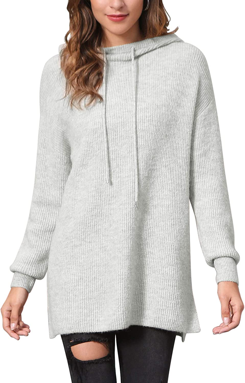 Woolicity Womens Hoodies Long Sleeve Loose Lightweight Casual Solid Hoodie Sweatshirts Tunic Pullover Tops