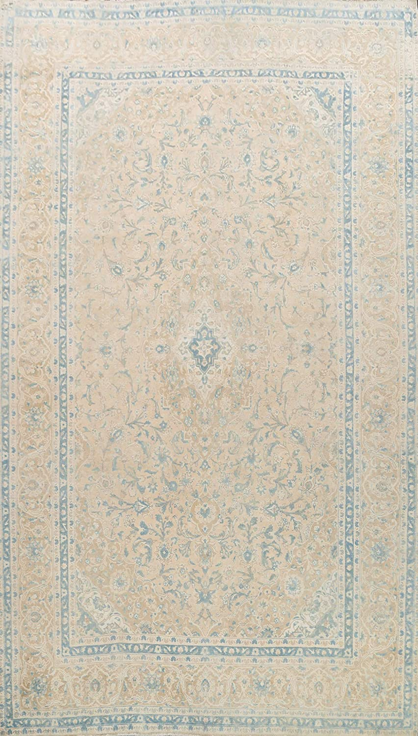 Vintage Muted At the price of surprise Distressed Floral Kashaan Daily bargain sale Rug Area Oriental Wool H