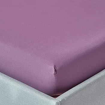HOMESCAPES Sábana Bajera Ajustable 100% algodón Egipcio 200 Hilos Profundidad 46 cm Especial colchon Grueso Color Morado 180 x 200 cm: Amazon.es: Hogar