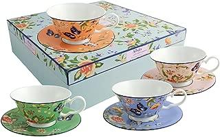 Belleek Cottage Garden Windsor Teacups and Saucer, Multicolor