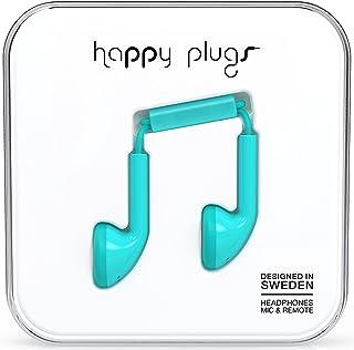 Happy Plugs Earbuds hörlurar med inbyggd mikrofon och fjärrkontroll kompatibel med Apple iPhone, iPod, iPad och Android Sm...