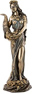Bronze Finish Fortuna Roman Goddess of Luck Lady Tykhe Statu