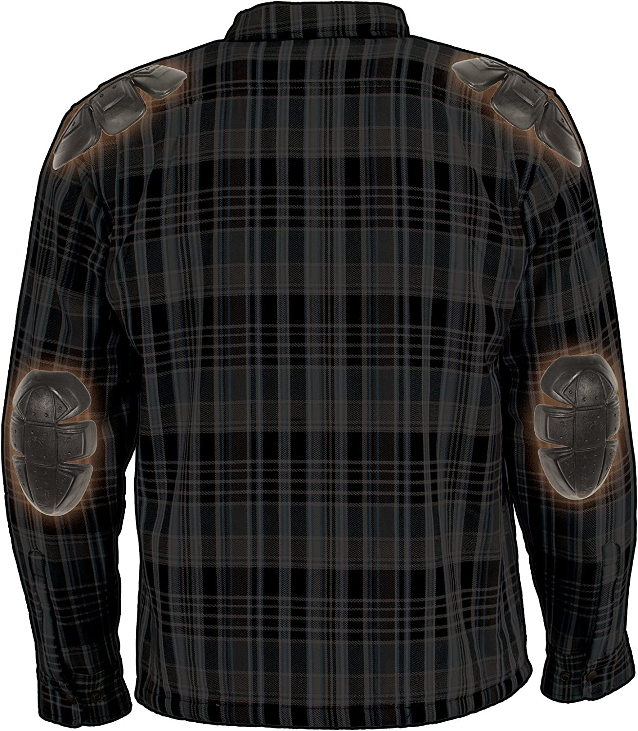 Milwaukee Performance MPM1636 Mens Armored Flannel Biker Jacket with Aramid by DuPont Fibers Small
