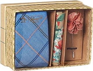 Men's Lindall 3-Piece Plaid Tie, Pocket Square & Lapel Pin Box