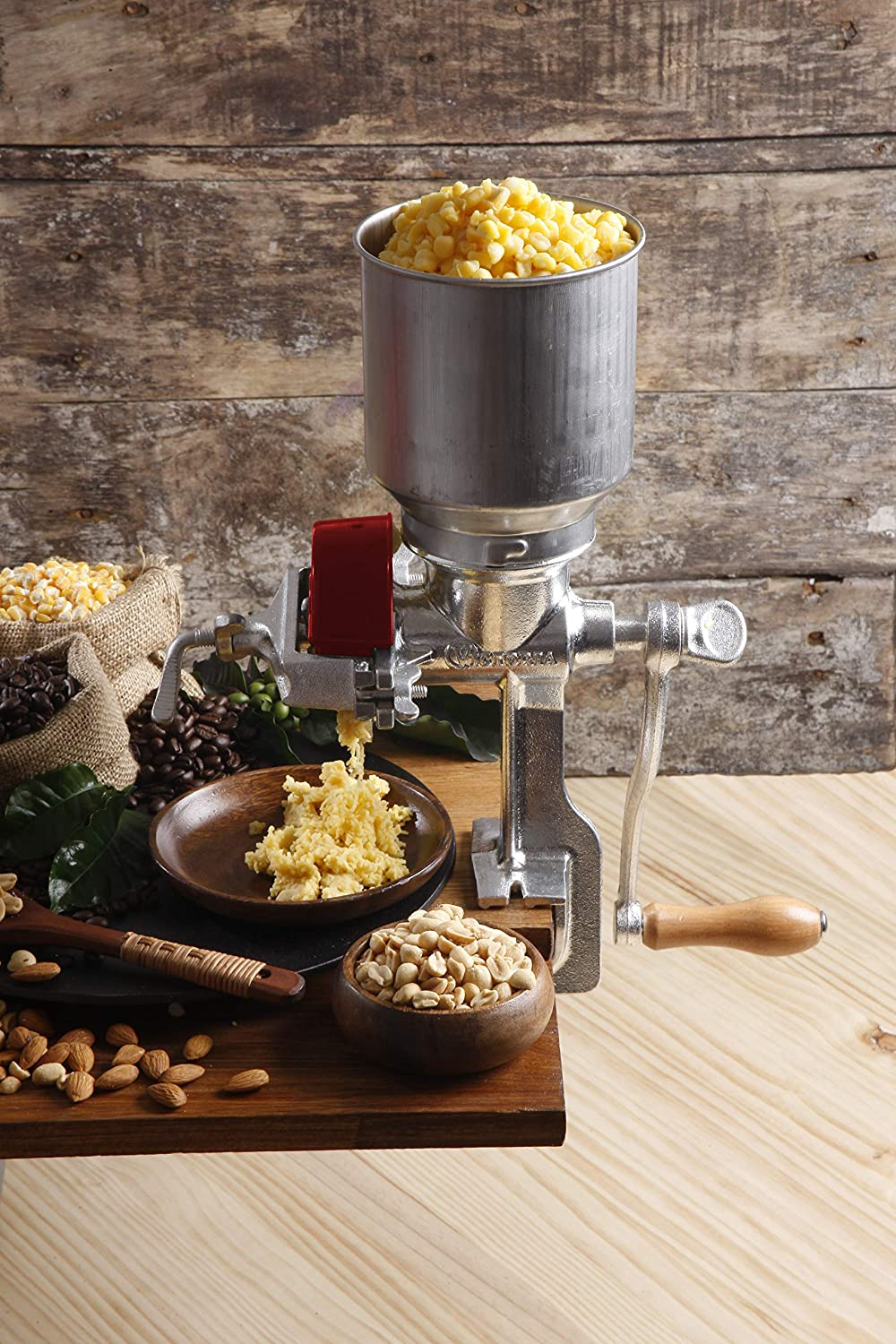 Table Clamp Corn Mill Manual Coffee Grinder Seed Grinder with High ...