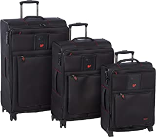 Stractic soft case trolley 3 pcs set with 4 wheel 9685-Black