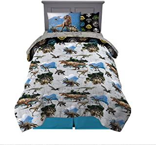 Franco Comforter and Sheet Set with Sham, Microfiber, Jurassic World, 5 Piece Twin Size