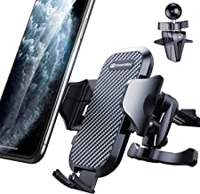 DesertWest Car Phone Mount, Air Vent Phone Holder Easy One Touch Strongest Compatible with iPhone 11 Max Pro X XS Max XR 8 7 6+, Samsung Galaxy S10 S10+ S10e S9 S8 S7 and More