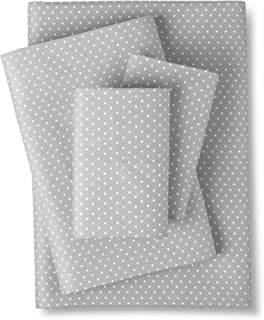 Sweet Home Collection 4 Piece 1800 Thread Count Egyptian Quality Deep Pocket Bed Sheet Set, Queen, Dot Gray