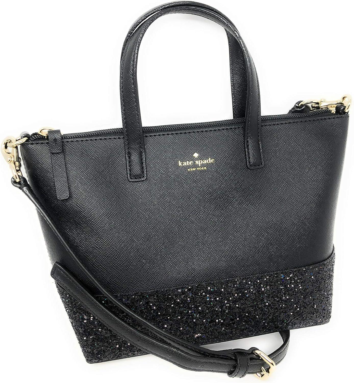 Kate Spade New York Ina Greta Court Glitter Crossbody Bag Top Handle Handbag
