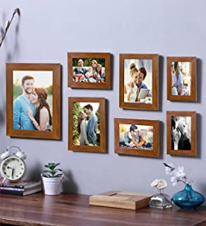 Art Street - Galaxy 7 Individual Brown Photo Frame Frames (Mix Size) 8x10, 5x7, 4x6, 8x6
