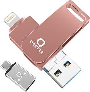 4in1 USBメモリ iPhone フラッシュドライブ アイフォン メモリ IOS Android PC 人気 USB 両面挿しスマホ USB メモリー iPAD USB iPhone対応 フラッシュドライブ Android パソコン対応 ア...