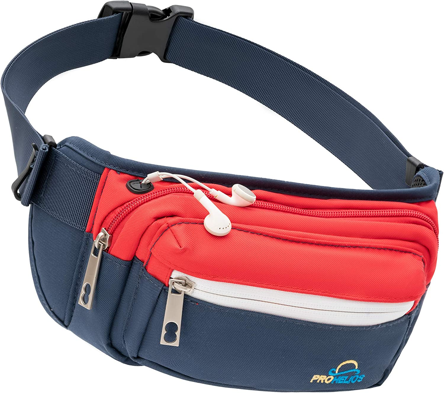 Pro Helios Premium Fanny Packs for Men & Women Water Resistant Waist Bag for Outdoor Activities, Traveling, Hiking, Biking, Running & More   Fannie Pack for Women