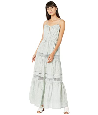 Jonathan Simkhai Kava Embroidered Eyelet Cover-Up Dress (Seafoam) Women