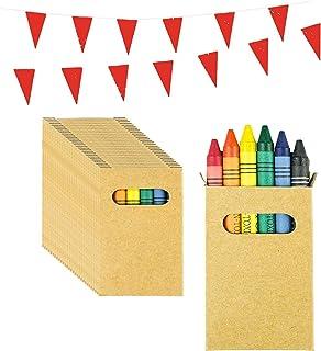 Piñatas de Cumpleaños Infantiles Partituki. 20 Sets de 6 Ceras de Colores y una Guirnalda de 10 m. Ideal para Detalles Cumpleaños Infantiles y Regalos Cumpleaños Niños Colegio