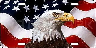 Olds New Again Aluminum American Eagle Flag Patriotic License Plate Flag Car Truck Auto USA Tag