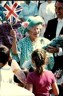 Vintage photo of Portrait of Queen Elizabeth during her birthday.
