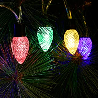TORCHSTAR 7.05ft LED Strawberry String Lights, 20 Bulbs, Battery Powered, Multi-Color Lighting for Party, Celebration, Wedding Decoration