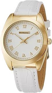 [ブルッキアーナ]BROOKIANA 天然ダイヤモンド ホワイト×ホワイトレザー BAV006-GWLWH メンズ 腕時計