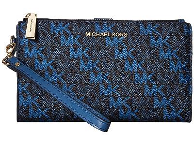MICHAEL Michael Kors Double Zip Wristlet (Admiral) Wristlet Handbags