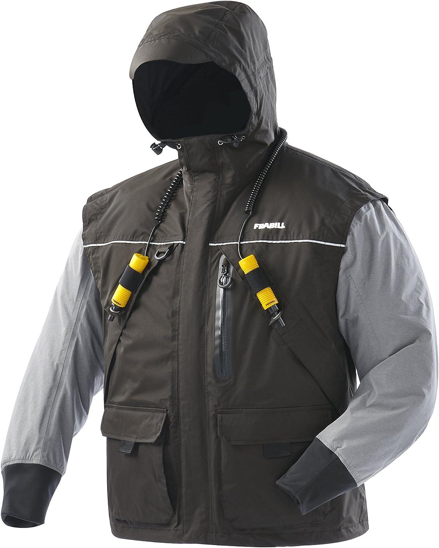 Frabill I2 Jacket, Black/Heather Grey, Medium