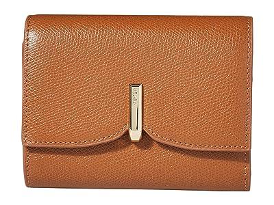 Furla Ribbon Medium Bifold (Cognac) Handbags