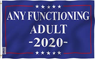 Anley Fly Breeze 3x5 Foot Any Functioning Adult Flag - Vivid Color and UV Fade Resistant - Canvas Header and Double Stitched - Any Functioning Adult 2020 Flag Polyester with Brass Grommets 3 X 5 Ft