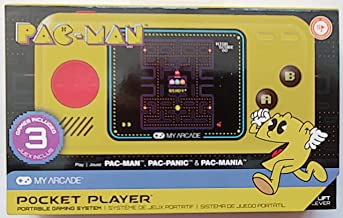 My Arcade PAC-MAN POCKET PLAYER featuring 3 classic games: PAC-MAN, PAC-MANIA and PAC-PANIC.