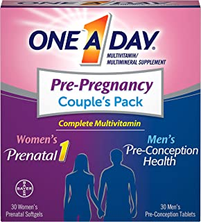 ONE A DAY Men's & Women's Pre-Pregnancy Multivitamin, Supplement for..