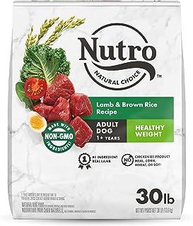 NUTRO NATURAL CHOICE Adult Dry Dog Food, Healthy Weight Lamb & Rice Recipe, 13.61kg (30LB) Bag
