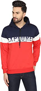 HIGH HILL Cotton Blend Hooded Zipper Sweatshirt for Men