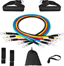 Vdealen Resistance Bands Set, 5 Workout Bands - Stackable Up to 100 LBS - Portable Home Gym Accessories, Suitable for Home Exercise, Physical Therapy, Gym Training, Yoga