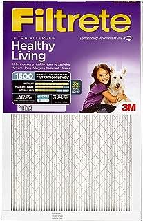 Filtrete 14x25x1, AC Furnace Air Filter, MPR 1500, Healthy Living Ultra Allergen, 4-Pack