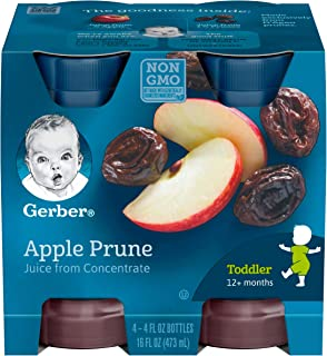 Gerber 100% Juice Apple Prune, 4-Ounce Bottles (Pack of 24)